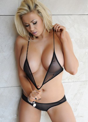 Blonde with huge tits rides a hunk reverse cowgirl 7
