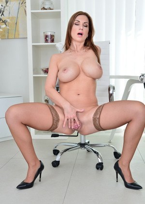 A milf secretary in pantyhose gets fucked for a promotion 8